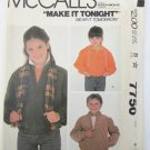 McCall 7750 boy girl jacket with hood size 8 pattern