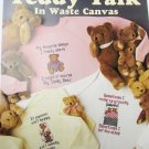 Leisure Arts 696 Teddy Talk cross stitch in waste canvas