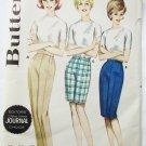 Butterick 2747 misses bermuda shorts pants size waist 24 vinage 1960s