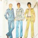 Simplicity 6373 man's unlined shirt jacket pants UNCUT chest 40 vintage 1974