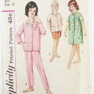 Simplicity 4237 girls pajamas duster size 10 breast 28 vintage pattern