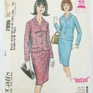 McCall 7898 misses suit straight skirt & jacket size 12 bust 32 pattern