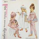 Simplicity 5080 girls pajamas nightgown cap size 4 pattern