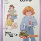 Simplicity 8598 child pullover top stretch knit pattern sizes 3 4 5