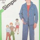 Simplicity 5233 boys pants shorts shirt jacket size 7 breast 28