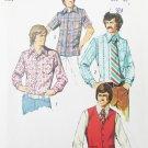 Simplicity 5047 mans shirt  and vest size 38 neck 15 vintage 1972 pattern