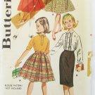 Butterick 9849 girls skirt wardrobe size 8 waist 23 UNCUT vintage pattern