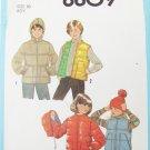 Simplicity 8809 boys vest  jacket with without hood size 10 vintage 1978 pattern