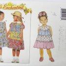 Butterick 3916 girls dress multiple tears sizes 2 3 4 pattern