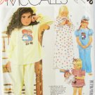 McCall 2240 girls nightgown pajamas Raggedy Ann Andy transfer size 4 to 6