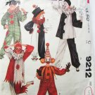McCall 9212 clown costume pattern size adult large size 40 to 42