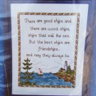 Cross stitch kit CJ Designs Best Ships are Friendships complete sealed