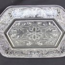 Indiana sandwich clear glass cream and sugar tray diamond shaped