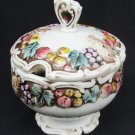 Lefton Della Robbia sugar bowl & lid 1958 vintage piece good