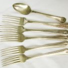 Jefferson silverplate 5 forks 1 spoon used as is