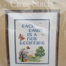 Caron stamped linen cross stitch embroidery kit New Beginning sealed complete