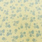 "Mossy green blue flower vintage fabric 40"" wide cotton"