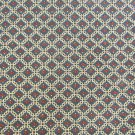 "Quilting fabric geometric small print gold navy red 42"" wide vintage cotton"