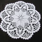 "Doily hand croched circle 9"" flower pineapple look bedspread cotton"