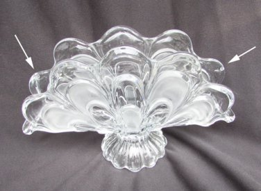Bohemian glass napkin holder shell pattern