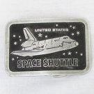 Space shuttle solid pewter belt buckle unusual design
