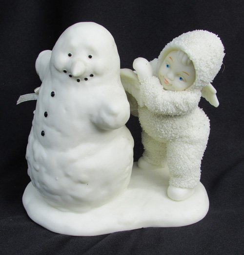 Dept 56 Snowbaby Angel With Snowman Department 56 Snowbabies