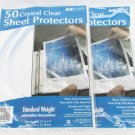 100 Clear sheet protectors 3 hole in two A&W packages clear archival safe
