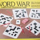 Word War Crossword puzzle game used for parts cards boards