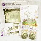 Wilton Football decorations poster treat stand cup cake wraps & cupcake holders