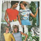 Butterick 4762 misses T shirts UNCUT size 12 pattern moderate stretch fabric
