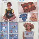 Simplicity 9078 pattern for 24 appliques animals hearts people UNCUT