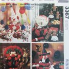 McCall 3367 holiday Halloween Thanksgiving Christmas Clowns UNCUT decorations