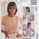 McCall 3517 misses blouse sizes 10 12 14 UNUSED pattern