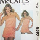 McCall 6597 misses playsuit shorts sleeveless size Medium UNCUT knits only
