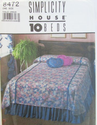Simplicity 8472 instructions for 10 different style bed covers