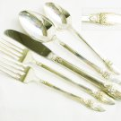 First Love Silverplate IS 5 piece place setting spoons forks knife all nice