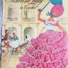 Crinoline lady in crochet vintage 1949 pattern booklet Clark Coats #262