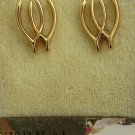 14 kt gold posts with 1/20 12 kt GF double wishbone earrings never worn