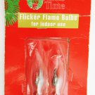 Flicker flame bulbs sealed package of two fits candelabra base 120 volts