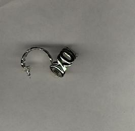 Avon Modern Love Hoops Pierced Earrings- silvertone