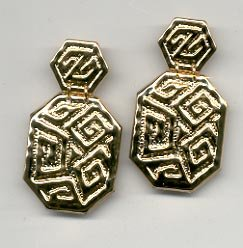 Avon  Golden Maze clip earrings