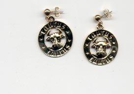 Avon Sign of the Zodiac pierced earrings - Taurus