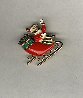 Avon Sleigh Ride Surprise Pin and Earrings