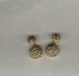 Avon  Beaded Drop Clip Earrings