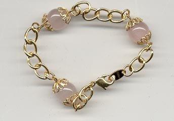 "Avon Rose Quartz Bracelet 7"""