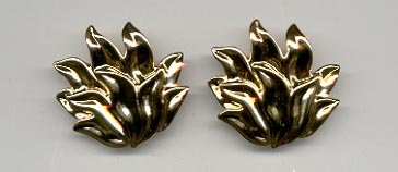 Avon  Golden Flames Pierced Earrings