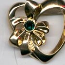 Avon Pick Your Birthstone Heart Pin- May