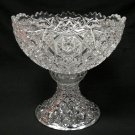Fostoria Rosby Clear Glass Punch Bowl &  Base