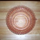 Holiday Button and Bows pink glass vegetable bowl