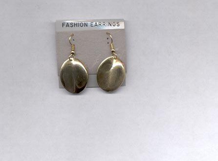 Goldtone pierced earrings (#1)